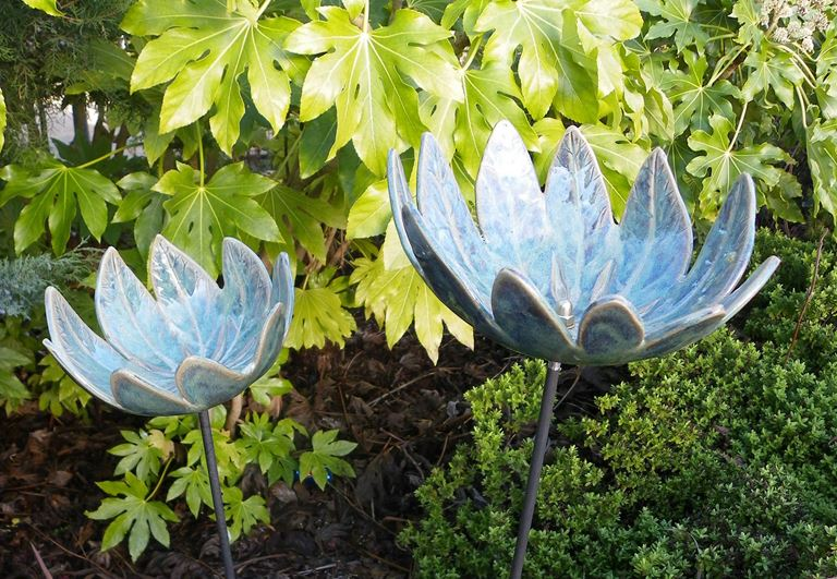 Garden ornaments. Winter safe.