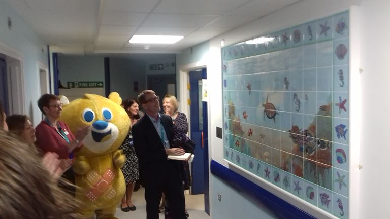 Unveiling the mural