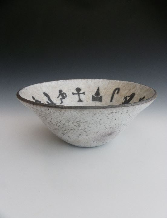Raku-fired pot.